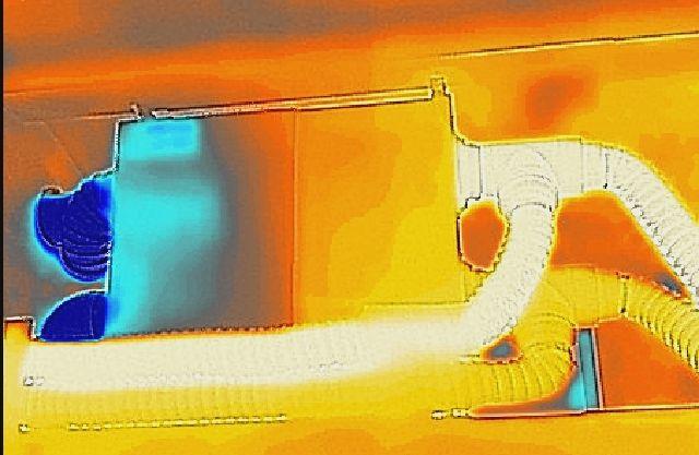 imagine cu camera cu temoviziune despre aerisitor cu recuperare centralizat